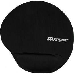 Mouse Pad Maxprint Preto com Apoio Em Gel